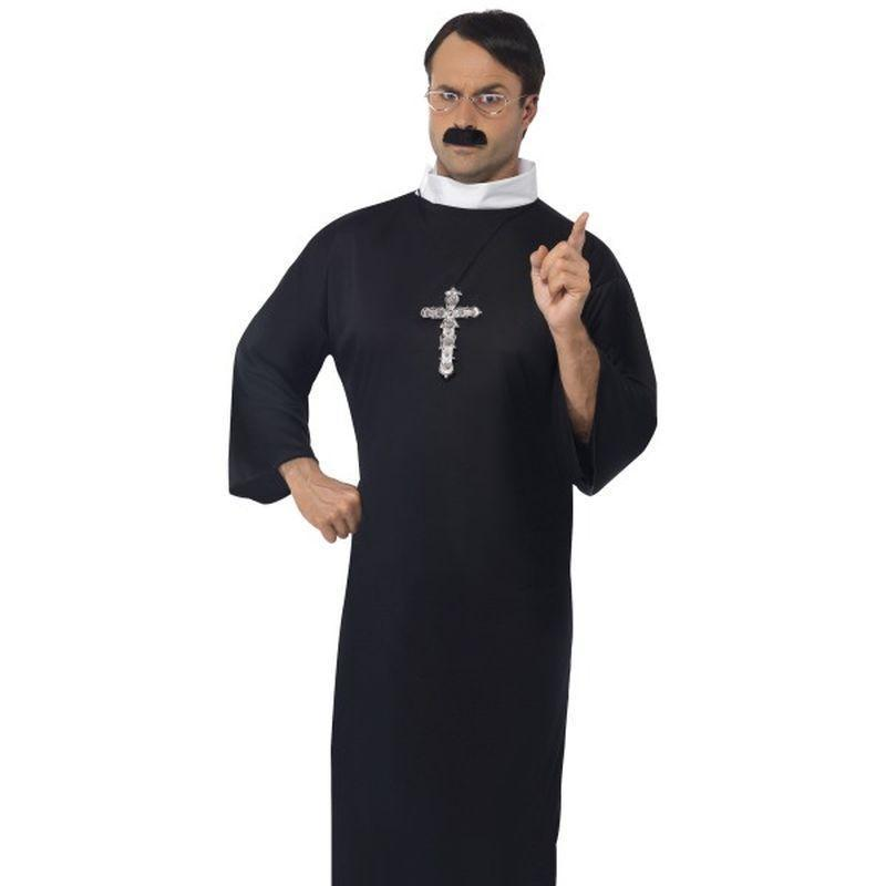 Priest Costume Adult Black/white - Saints & Sinners Mad Fancy Dress