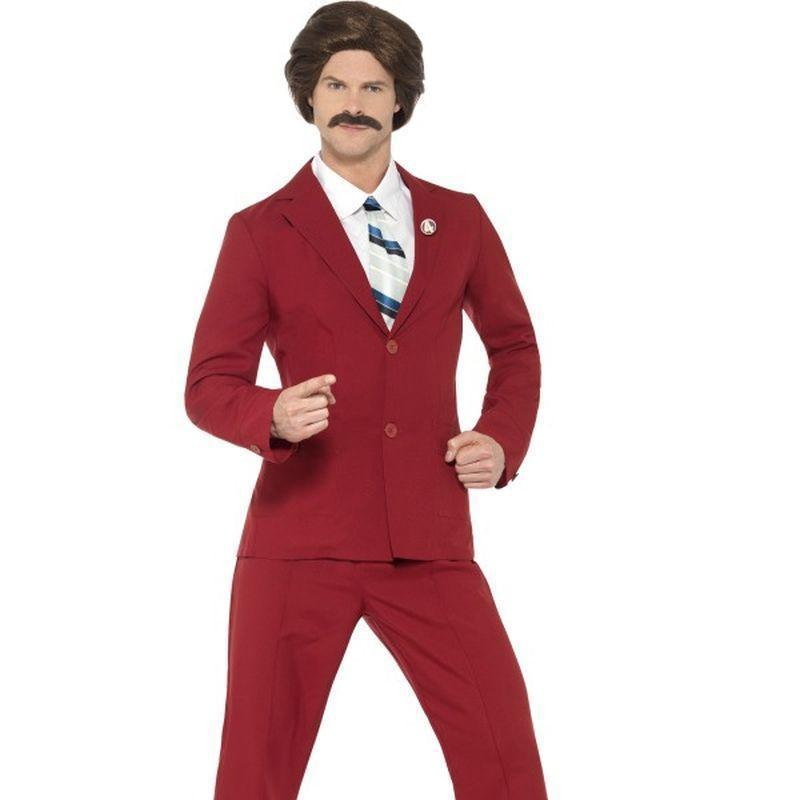 Anchorman Ron Burgundy Costume Adult Burgundy - Anchorman Licensed Fancy Dress Mad Fancy Dress
