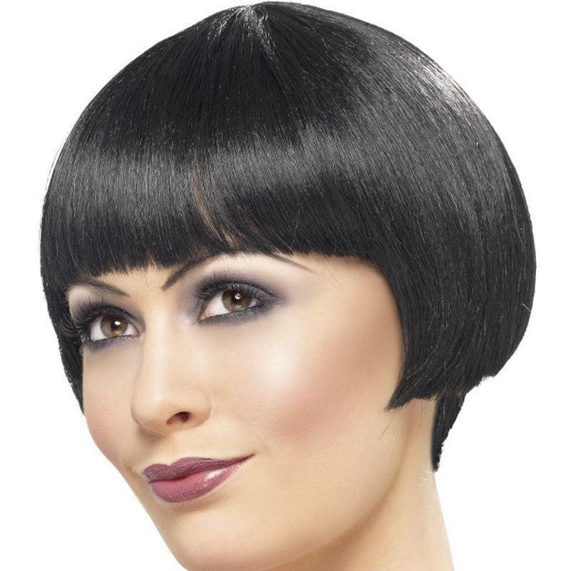 20S Flapper Bob Wig Adult Black - Ladies Wigs Mad Fancy Dress
