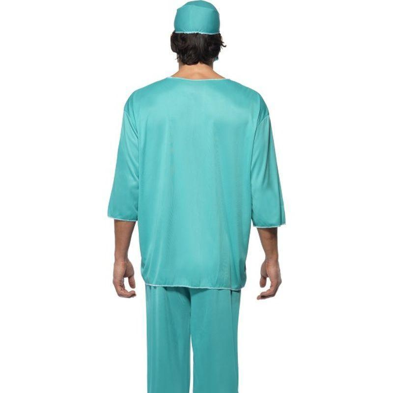 Surgeon Costume Adult Green - Hospital Mad Fancy Dress