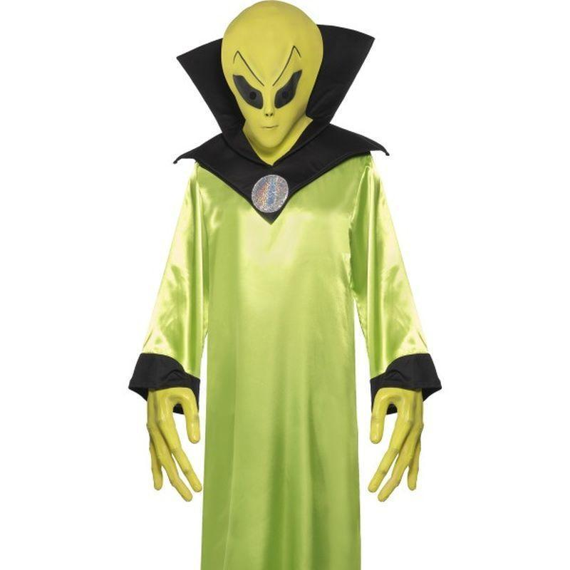Alien Lord Costume Adult Green/black - Halloween Costumes & Accessories Mad Fancy Dress