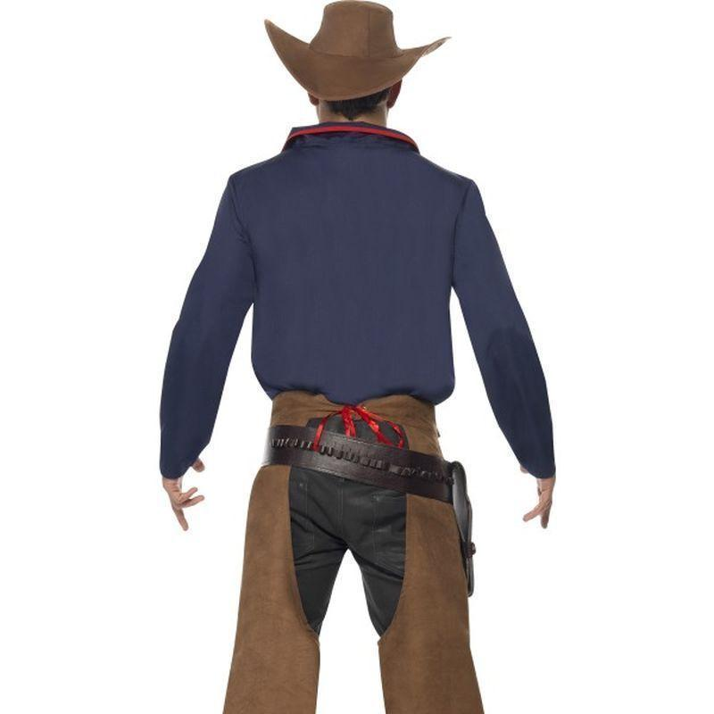 Rodeo Cowboy Costume Adult Blue/brown - Cowboys & Indians Mad Fancy Dress