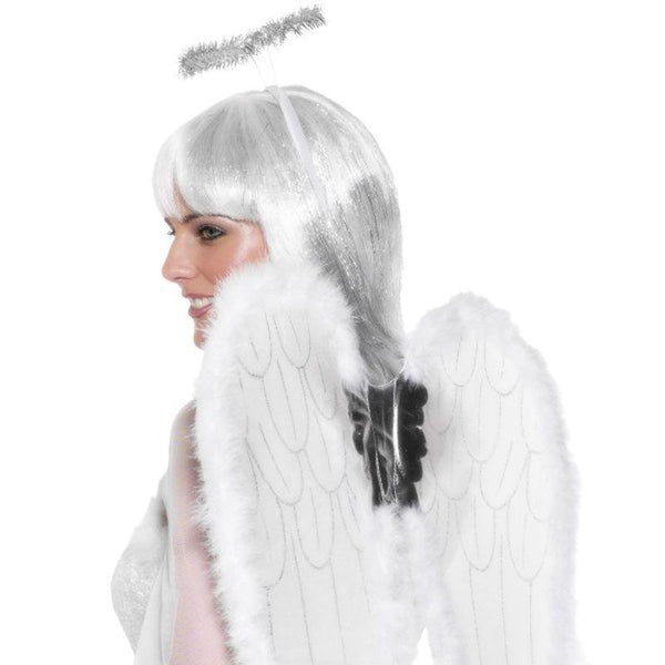 Angel Set Adult White - Faries Wings & Wands Mad Fancy Dress