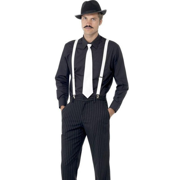 Gangster Instant Kit Adult Black/white - 20S Razzle Mad Fancy Dress