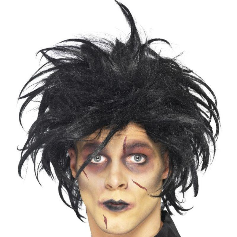 Psycho Wig Adult Black - Halloween Costumes & Accessories Mad Fancy Dress