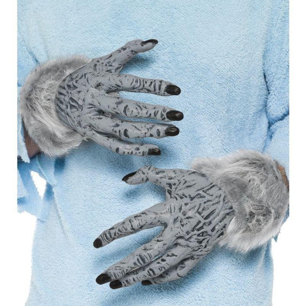 Werewolf Furry Hands Adult Grey - Halloween Costumes & Accessories Mad Fancy Dress