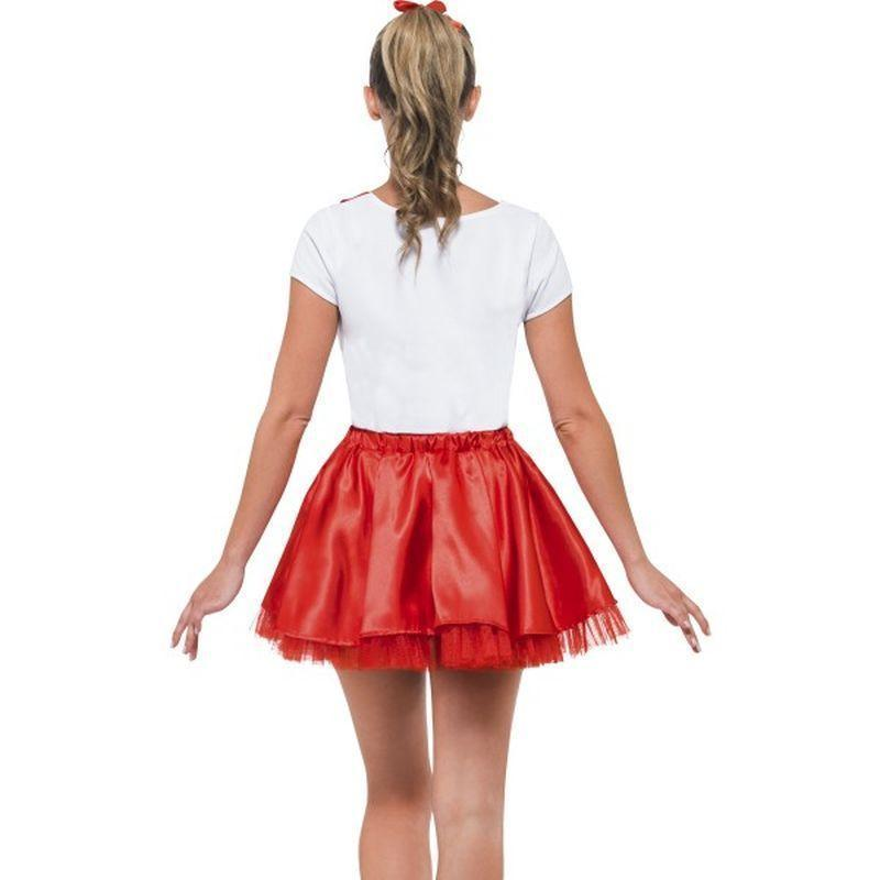 Sandy Cheerleader Costume Adult White/red - Grease Licensed Fancy Dress Mad Fancy Dress