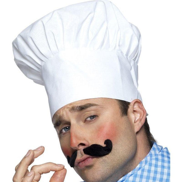 Chef Hat Adult White - Heroes & Role Model Mad Fancy Dress