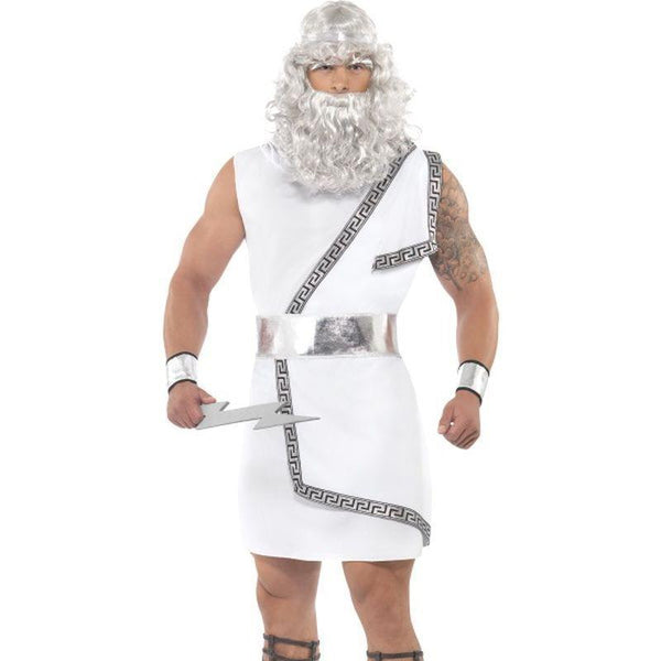Zeus Costume - Medium Mens White