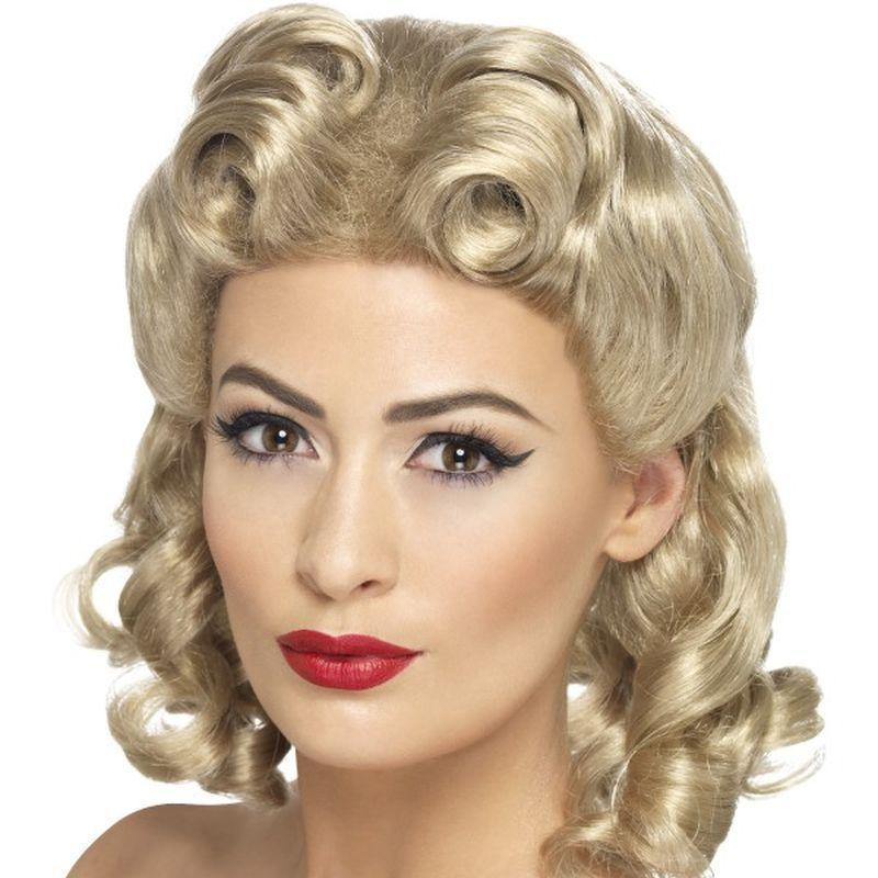 40S Sweetheart Wig Adult Blonde - 1940S Wartime Fancy Dress Mad Fancy Dress