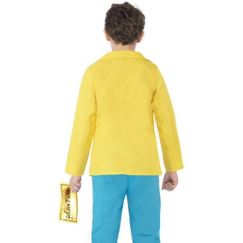 Roald Dahl Charlie Bucket Costume Kids Yellow - Roald Dahl Licensed Fancy Dress Mad Fancy Dress