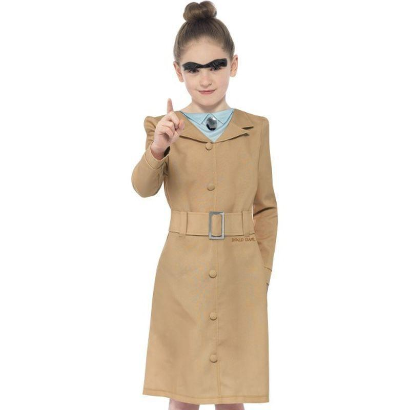 Roald Dahl Miss Trunchbull Costume Kids Beige - Roald Dahl Licensed Fancy Dress Mad Fancy Dress