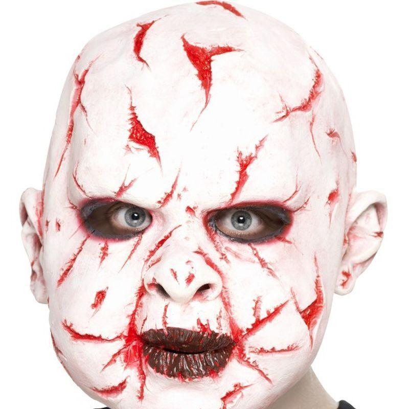 Scar Face Mask Adult White/red - Halloween Costumes & Accessories Mad Fancy Dress