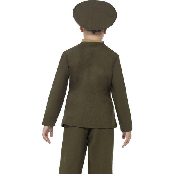 Army Officer Costume Kids Green - Boys Costumes Mad Fancy Dress