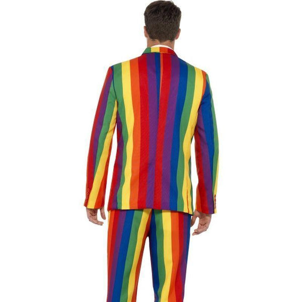 Over The Rainbow Suit Adult Black - Stands Out Suits Mad Fancy Dress