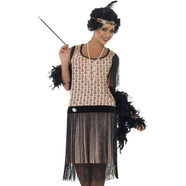 1920S Coco Flapper Costume Adult Black - 20S Razzle Mad Fancy Dress