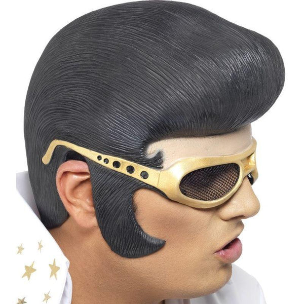 Elvis Headpiece Adult Black/gold - Elvis Presley Licensed Fancy Dress Mad Fancy Dress