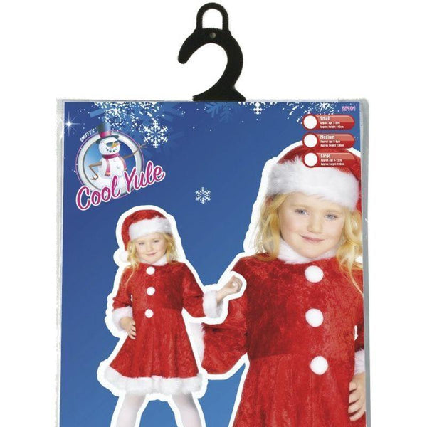 Mini Miss Santa Costume Kids Red/white - Childrens Christmas Costumes Mad Fancy Dress