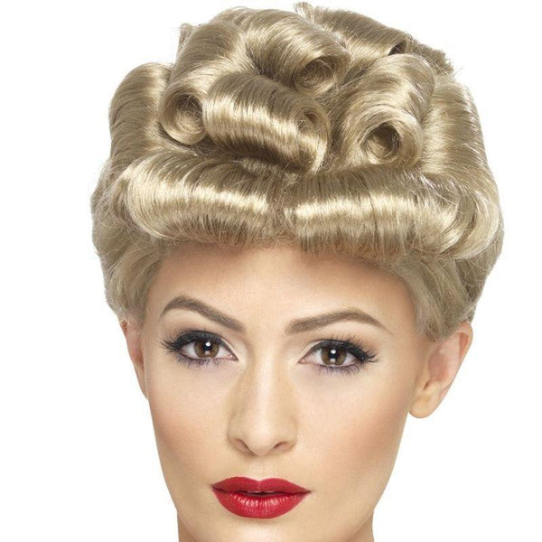 40S Vintage Wig Adult Blonde - 1940S Wartime Fancy Dress Mad Fancy Dress