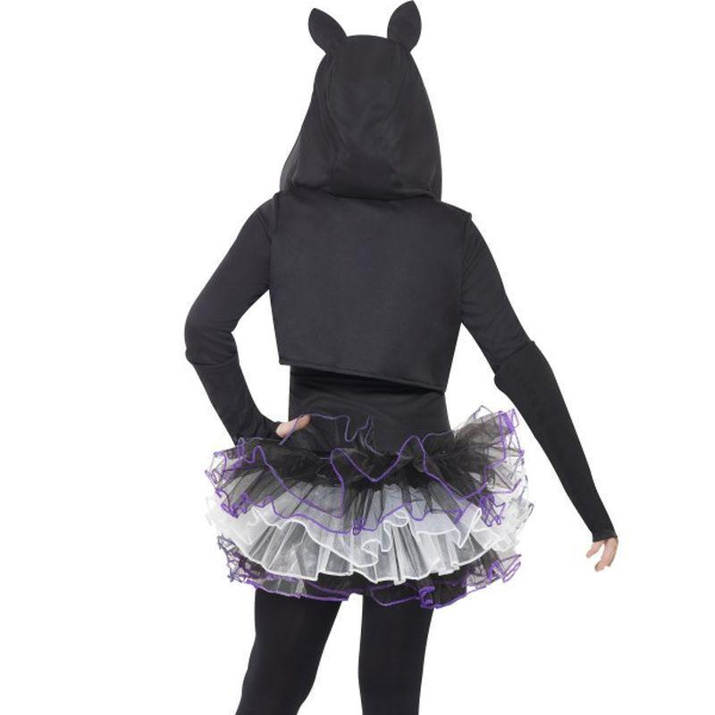 Skelly Cat Costume Kids Black/white - Halloween Costumes & Accessories Mad Fancy Dress