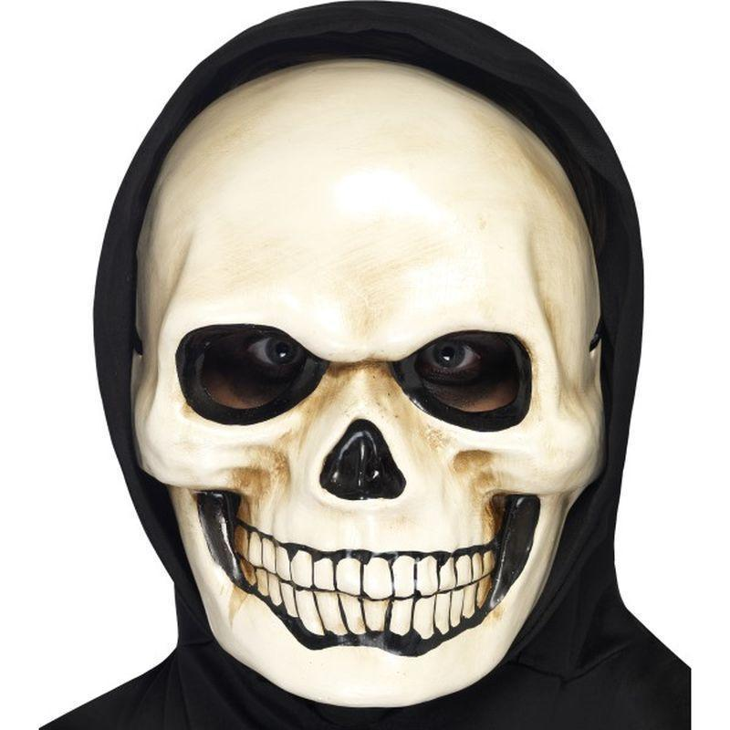 Skull Mask Adult White - Halloween Costumes & Accessories Mad Fancy Dress