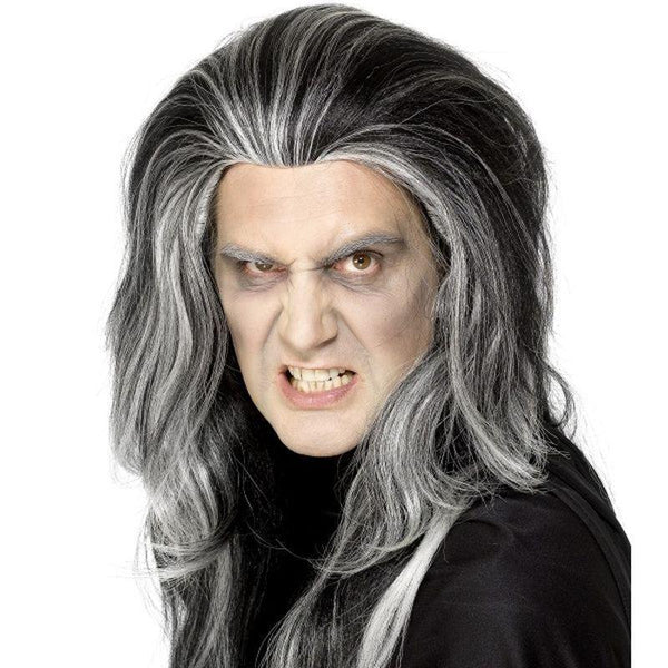 Gothic Vampire Wig Adult Black - Halloween Costumes & Accessories Mad Fancy Dress