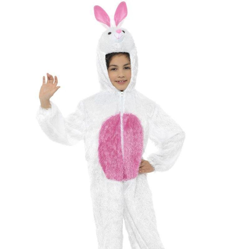 Bunny Costume Kids White/pink - Childrens Animal Costumes Mad Fancy Dress