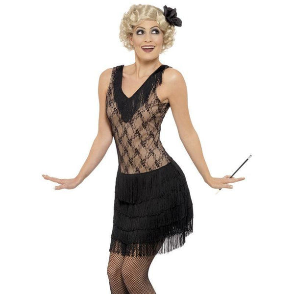 All That Jazz Costume Adult Black - 20S Razzle Mad Fancy Dress