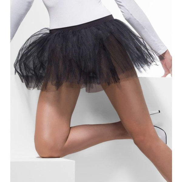 Tutu Underskirt Adult Black - Sheer Desires Hosiery Mad Fancy Dress
