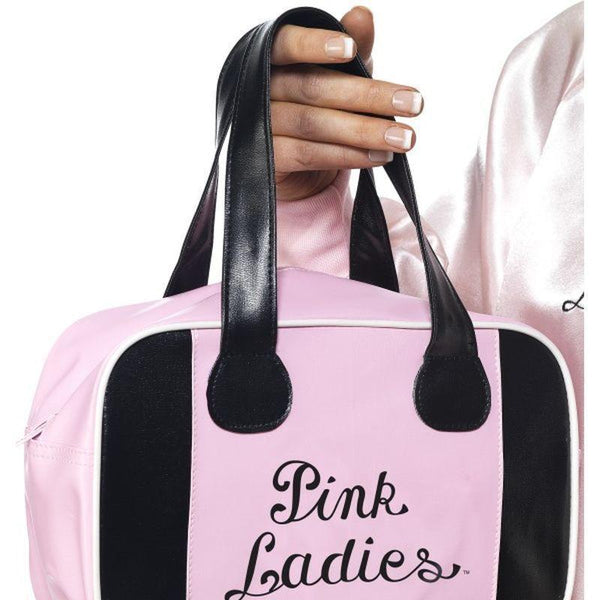 Grease Pink Lady Bowling Bag Adult Pink - Grease Licensed Fancy Dress Mad Fancy Dress