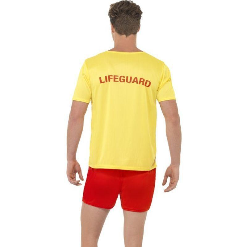 Baywatch Mens Beach Costume Adult Yellow/red - Baywatch Licensed Fancy Dress Mad Fancy Dress