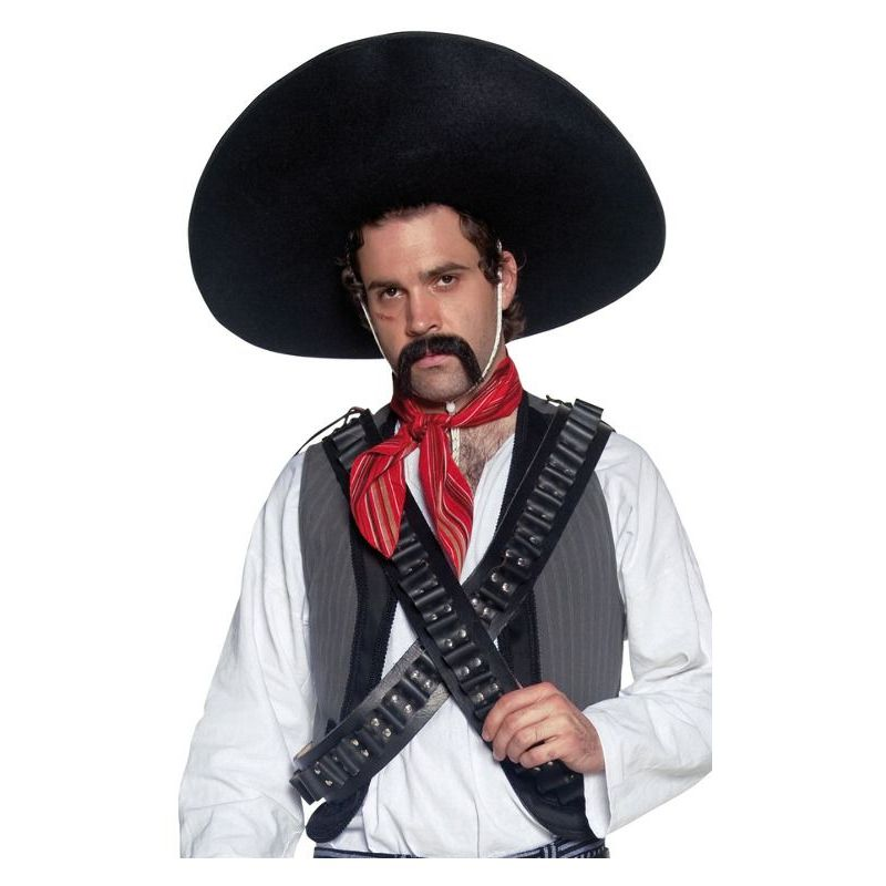 Authentic Mexican Bandit Sombrero Adult Black