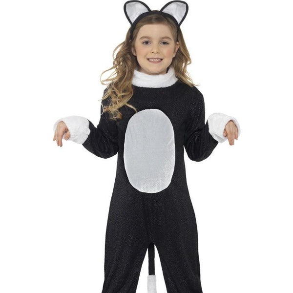 Cool Cat Costume Kids Black/white - Halloween Costumes & Accessories Mad Fancy Dress