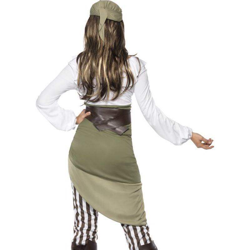 Shipmate Sweetie Costume Adult Green/white - Pirate Mad Fancy Dress