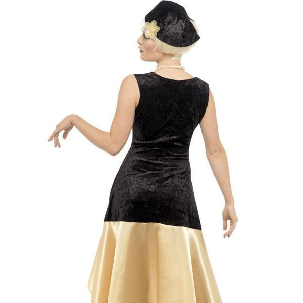 20S Gatsby Girl Costume Adult Black/gold - 20S Razzle Mad Fancy Dress