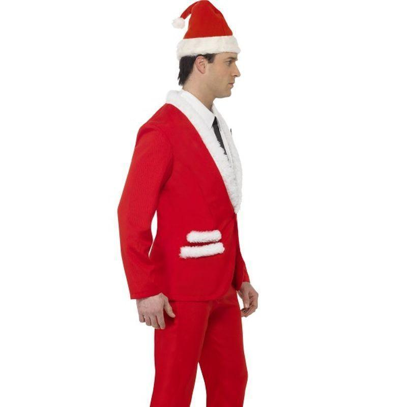 Santa Cool Costume Adult Red/white - Christmas Costumes For Men Mad Fancy Dress