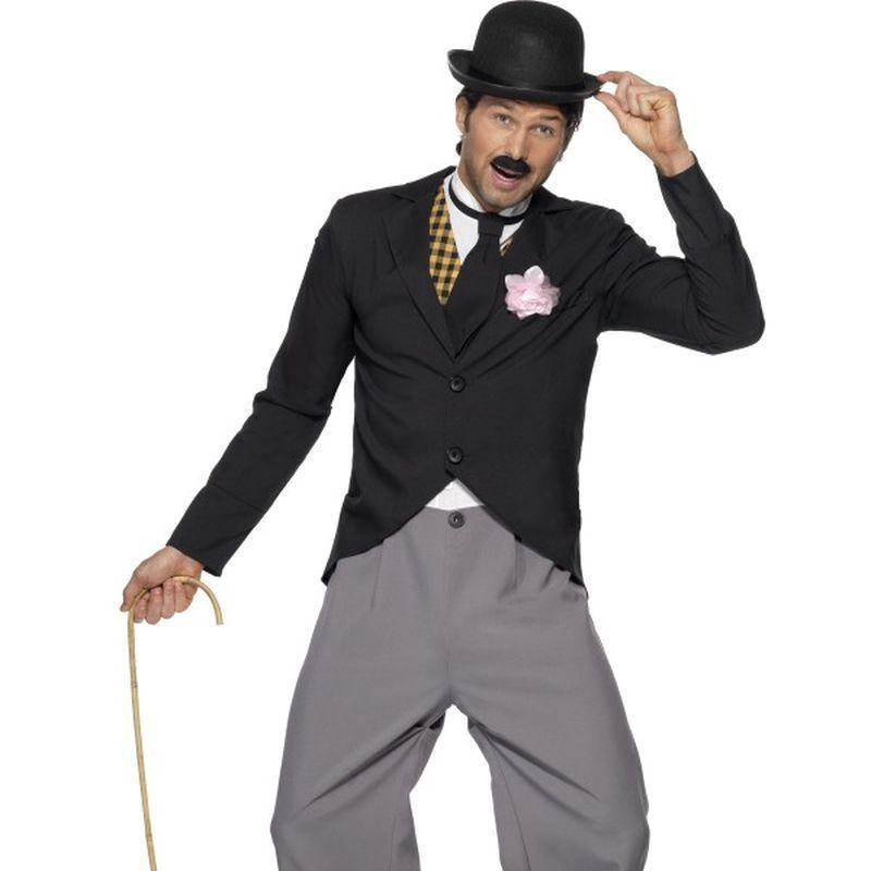 1920S Star Costume Adult Black/grey - St Georges Day Mad Fancy Dress