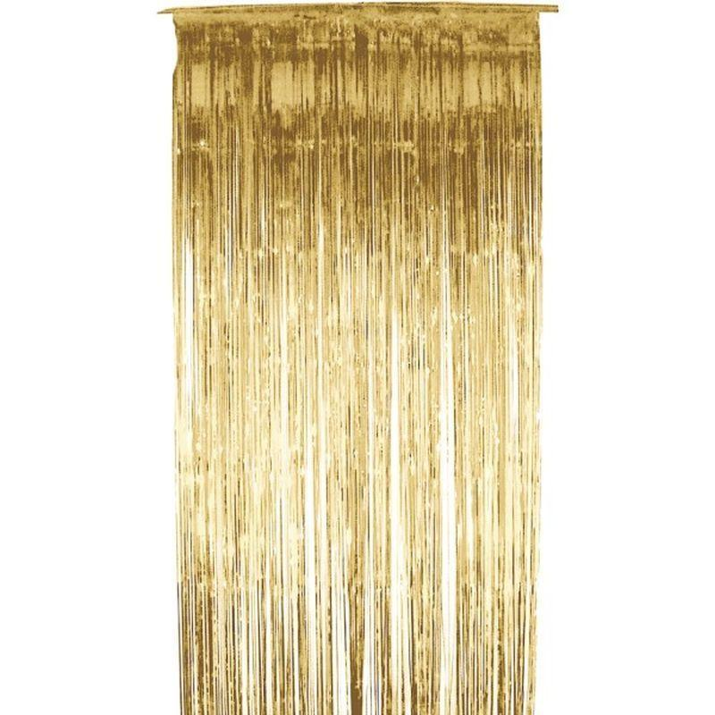 Shimmer Curtain Adult Gold - Party & Carnival Mad Fancy Dress