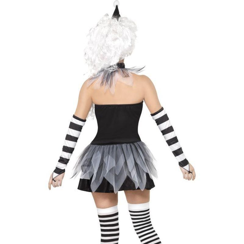 Sinister Pierrot Costume Adult Black/white - Cirque Sinister Mad Fancy Dress