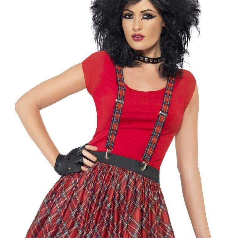 Punk Kit Adult Red - 1980S Mad Fancy Dress