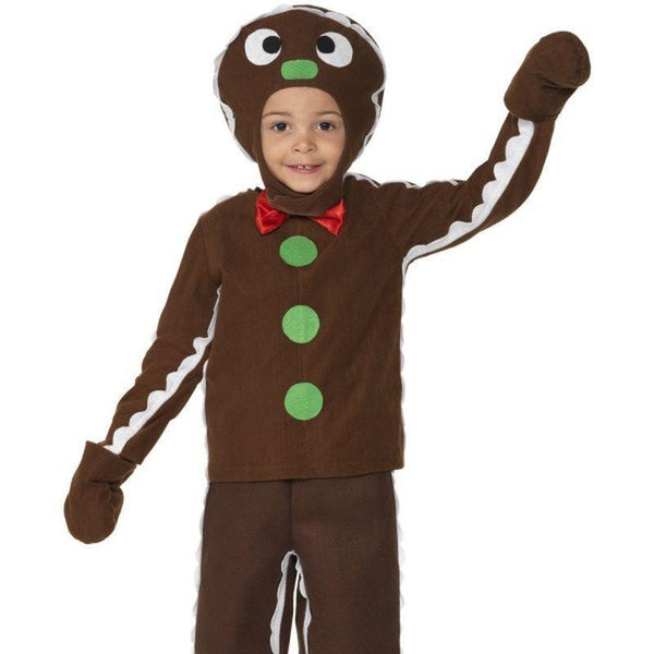 Little Gingerbread Man Costume Kids Brown - Childrens Christmas Costumes Mad Fancy Dress