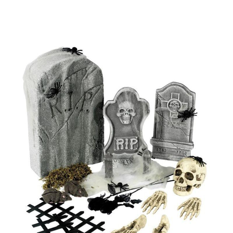 24 Piece Graveyard Collection Adult Black - Halloween Costumes & Accessories Mad Fancy Dress