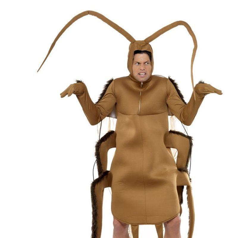 Cockroach Costume Adult Brown - Comedy & Clown Mad Fancy Dress