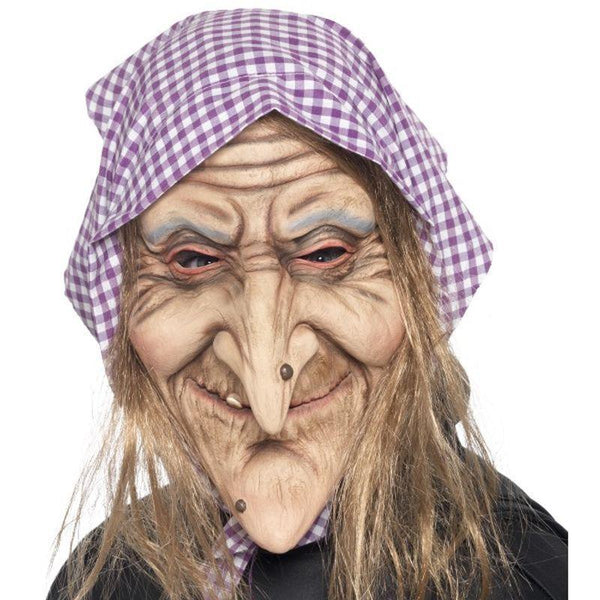 Old Witch Mask Adult Skin - Halloween Costumes & Accessories Mad Fancy Dress