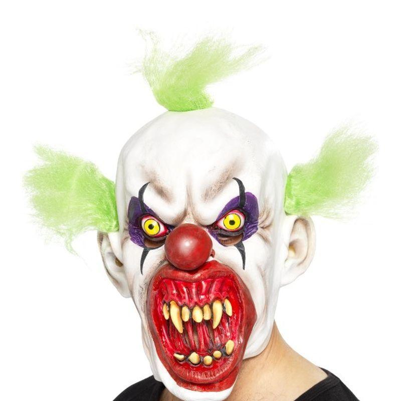 Sinister Clown Mask Adult Black - Halloween Costumes & Accessories Mad Fancy Dress