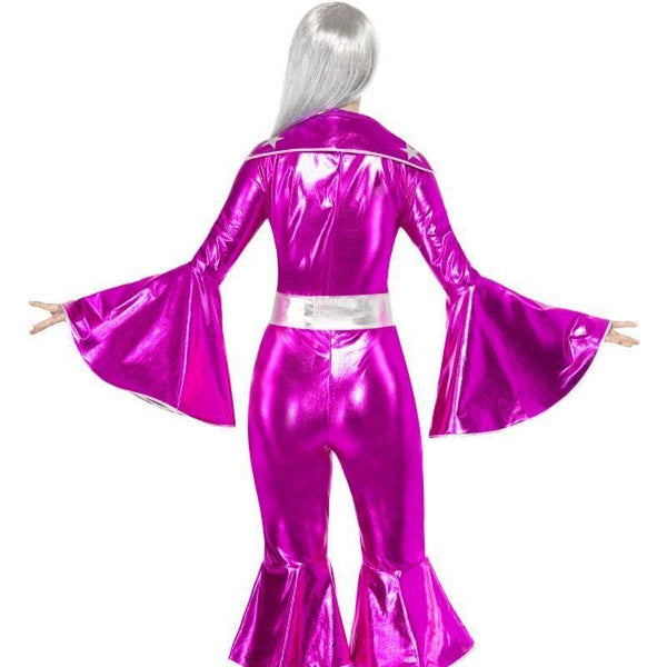 1970S Dancing Dream Costume Adult Pink - 70S Disco Mad Fancy Dress