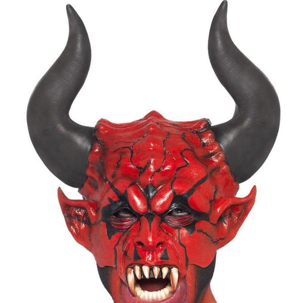 Devil Lord Mask Adult Red/black - Halloween Costumes & Accessories Mad Fancy Dress