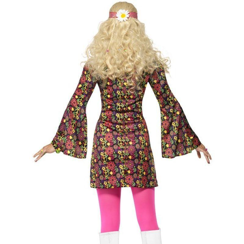 1960S Cnd Costume Adult Pink/black - 60S Groovy Mad Fancy Dress