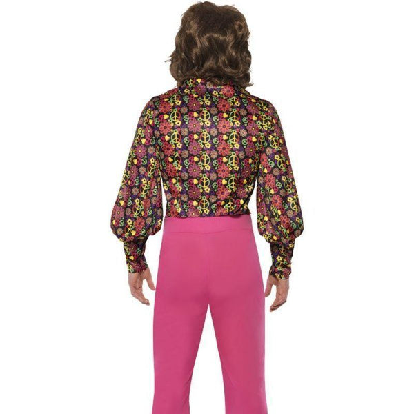 1960S Cnd Slack Suit Costume Adult Pink/black - 60S Groovy Mad Fancy Dress