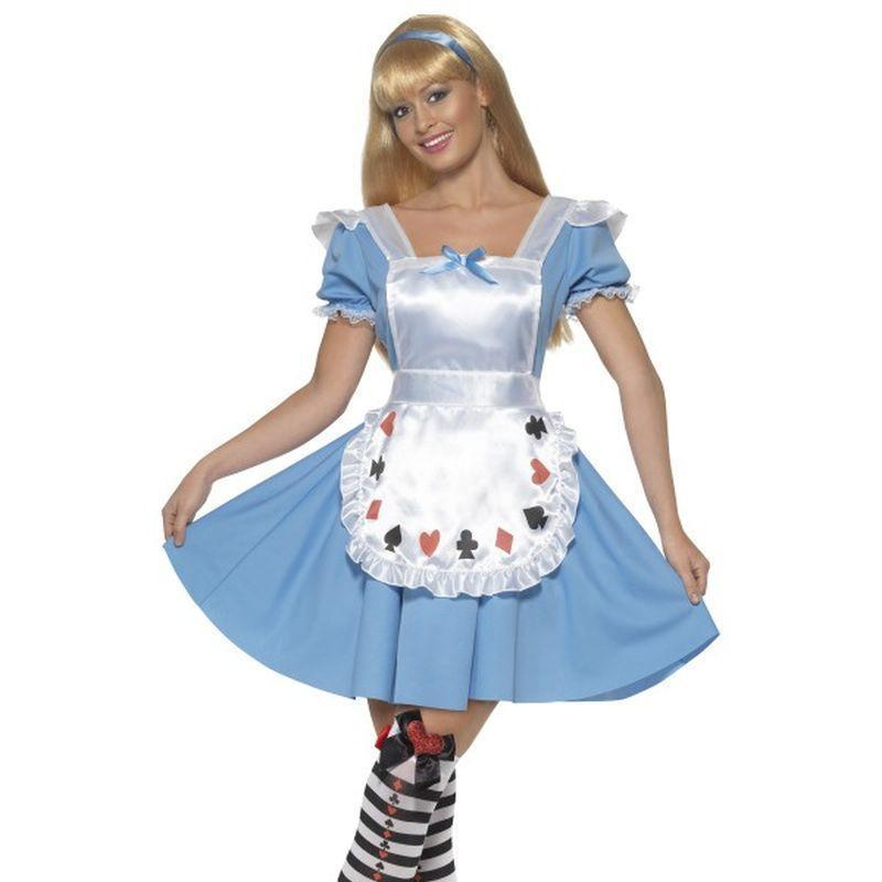 Deck Of Cards Girl Costume Adult Blue/white - Faries Wings & Wands Mad Fancy Dress